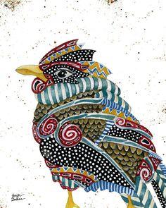 8x10 Art Print Spirit Bird by TheOpulentNest on Etsy, $18.00