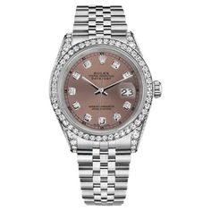 Pre-owned Rolex Datejust Stainless Steel with Salmon Dial 31mm Unisex... ($6,046) ❤ liked on Polyvore featuring jewelry, watches, unisex jewelry, rolex jewelry, dial watches, rolex watches and stainless steel wrist watch