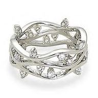 Ring With Open Wave CZ Band Design, $62.95