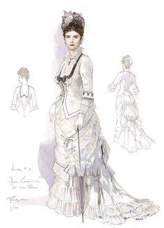 Costume designs by Robert Perdziola for Anna Karenina at Florida Grand Opera