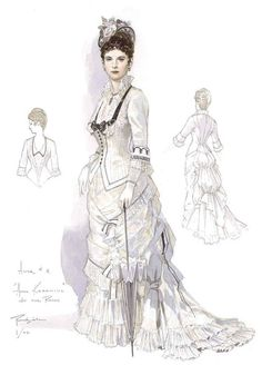 Costume designs by Robert Perdziola for Anna Karenina at Florida Grand Opera