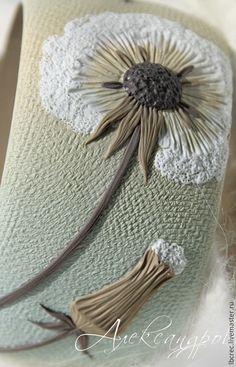 """Купить Браслет """"Невесомость"""" - одуванчик, лёгкость, воздушность, невесомость, нежность, бежевый, голубой, светлый, браслет"""