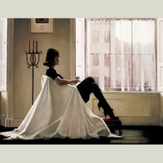 """In Thoughts of You"" by Jack Vettriano"