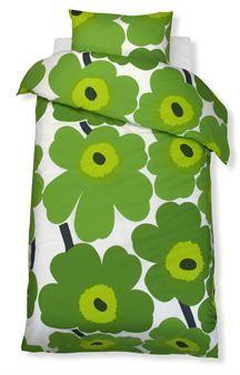 Unikko fabric green - green - Marimekko