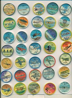 Collection of vintage JELL-O coins: History of Flight Collection Displays, Displaying Collections, Childhood Memories, 1960s, Vintage Items, Coins, History, Cool Stuff, Retro