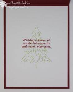 Stampin' Up! Peaceful Pines CAS Holiday Card