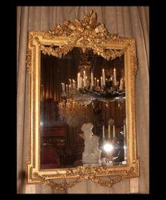 Louis XVI Gold Leaf Beveled Mirror