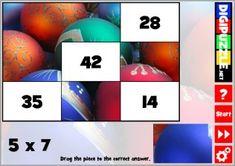 Christmas Multiplication Photo Puzzles Christmas Puzzle, Christmas Games, Multiplication, Puzzles, Photo Puzzle, Fun, Decor, Decoration, Puzzle