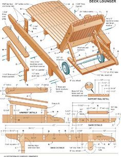 Chaise lounge plans