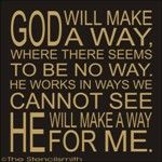 1760 - God will make a way stencilsmith