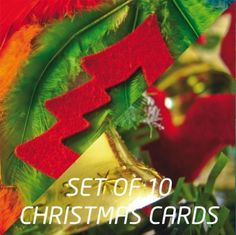 Boxed Christmas card set containing 2 x 5 folded greeting card, blank inside, including envelopes. - FairMail - Holiday Fair Trade Cards - FMX1