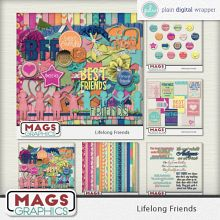 MagsGraphics :: LIFELONG FRIENDS Scrap Kit:: Plain Digital Wrapper, Ltd.