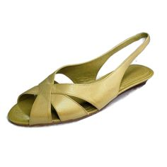 182276ade2f2 Naturalizer Sandals Women Size 9.5 Low Wedge Pea Green Slingback Never Worn   Naturalizer  SlingbackSandals