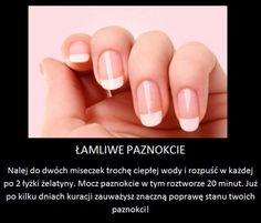 Łamliwe paznokcie Beauty Tips For Skin, Health And Beauty Tips, Beauty Hacks, Diy Beauty Makeup, Makeup Tips, Hair And Nails, My Nails, Nail Growth, Best Acrylic Nails