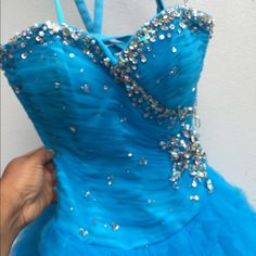 """Selling this """"Blue Ball Gown Dress W