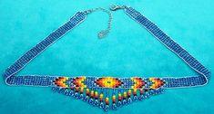 NATIVE AMERICAN INDIAN BEADED CHOKER NECKLACE BLUE   eBay