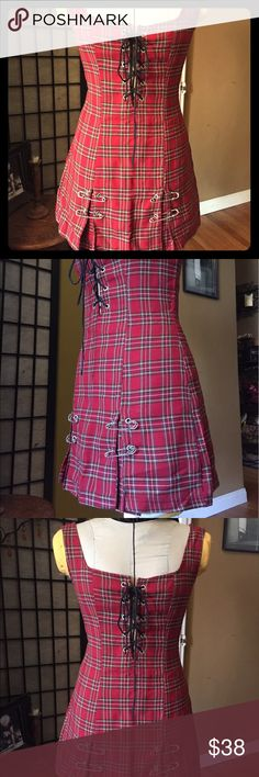 Lip Service punky plaid dress **SALE! DROPPED PRICE!** Vintage classic from the 90's. St. Marks Place, New York City, punk rock plaid schoolgirl mini-dress. I rocked this dress back in the day! I hope someone small can rock it once again! Lip Service Dresses Mini