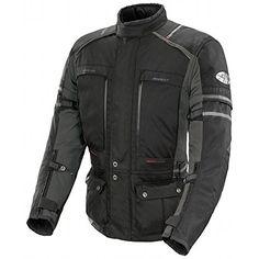 Joe Rocket Ballistic Adventure Men's Textile Sports Bike Racing Motorcycle Jacket - Black/Gunmetal / Medium