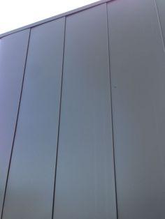 Matte black aluminium cladding