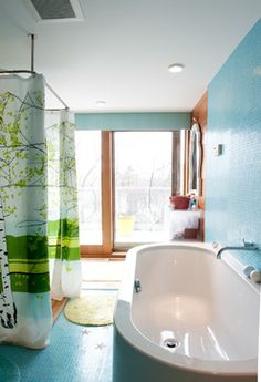 A Lakeside Contemporary Spreads its Wings - contemporary - bathroom - burlington - Mary Prince