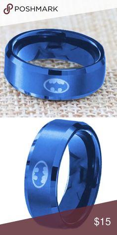 Titanium Blue Batman Ring Size 13 Titanium Blue Batman Ring Size 13 Batman Accessories Jewelry
