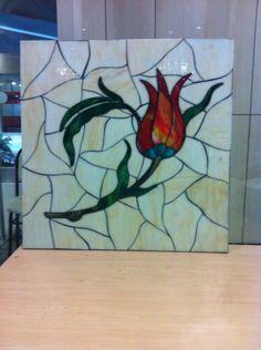 Lale  Cam vitray kesim by Hilal Taşcı Üğütgen