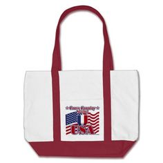 Cross Country Skiing USA Canvas Bag   •   This design is available on t-shirts, hats, mugs, buttons, key chains and much more   •   Please check out our others designs at: www.zazzle.com/ZuzusFunHouse*