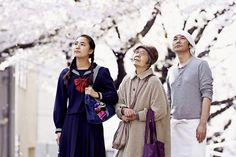 """Kawase's graceful tale adapted from the novel by Durian Sukegawa, introverted loner Sentaro (Masatoshi Nagase, Mystery Train ) runs a tiny """"dorayaki"""" (pancakes filled with """"an,"""" a sweet red bean paste) stand in the suburbs of Tokyo. Cannes Film Festival 2015, London Film Festival, Cannes 2015, Vanessa Redgrave, Our Little Sister, Little Sisters, 2015 Movies, Good Movies, Daniel Cohn Bendit"""