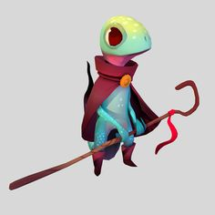 Lizard Mage Original concept By Alex Braun http://axbraun.tumblr.com/ A summer project to try to translate a concept to 3D.