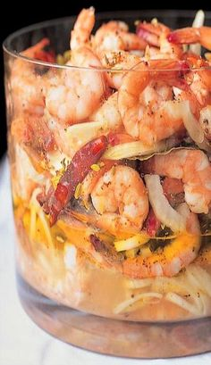 Pickled Gulf I am definitely going to test this for my Shrinking On a Budget Meal Plan. Shrimp Dishes, Fish Dishes, Shrimp Recipes, Fish Recipes, Appetizer Recipes, Great Recipes, Favorite Recipes, Appetizers, Recipies