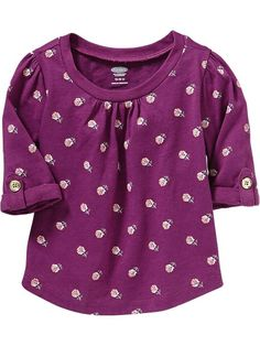 Floral Half-Sleeved Tees for Baby Product Image