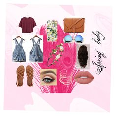 """""""Spring baby"""" by frania-hernandez on Polyvore featuring Isadora, Billabong, Madewell, Forever 21, Kate Spade, Lime Crime and WigYouUp"""
