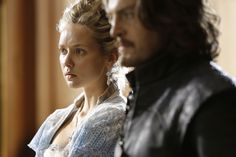 The Musketeers - Queen Anne and Athos Bbc Musketeers, The Three Musketeers, Tom Burke, Brothers In Arms, Star Wars, King And Country, White Queen, Handsome Actors, Fantasy Series