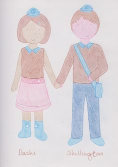 Dashi and Shellington from Octonauts as humans