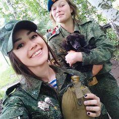 Russian girls military - Russian army русские девушки военные
