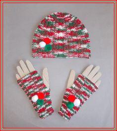 marianna's lazy daisy days: 'Festive Fun' Glitz Ribbed Hat & Mittens