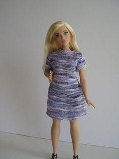 CURVY BARBIE Lavender Knit Dress by glissando on Etsy