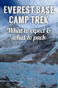 What to pack and what to expect when tackling the Everest Base Camp trek!