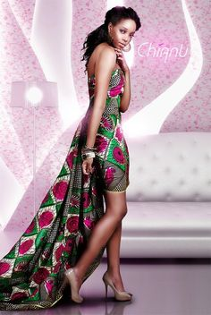Ghanaian Chic...My future bridesmaids can wear these style dresses for some portion of my wedding