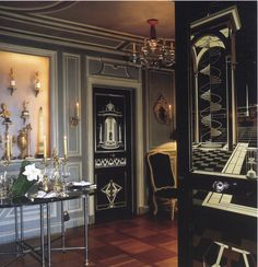 The apartment of Pierre Delbée, the President of Jansen , was home to five incredible inlaid doors. Made of ebony and ivory, each was a su...