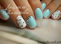 ideas pedicure designs toes white flowers for 2019 Pedicure Nails, Toe Nails, Blue Pedicure, Nail Nail, Stylish Nails, Trendy Nails, Colorful Nail Designs, Nail Art Designs, Winter Nails