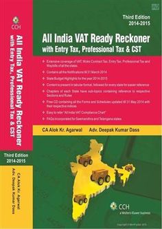 All India VAT Ready Reckoner with Entry Tax, Professional Tax & CSThttp://www.meripustak.com/All-India-VAT-Ready-Reckoner-with-Entry-Tax-Professional-Tax-and-CST--with-CD--/Direct-Tax/Books/pid-112360