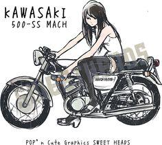 sweet heads sweetheads バイク 女の子 イラスト