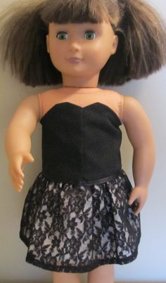 american girl doll Taylor Swift black lace by paintallday on Etsy, $15.00