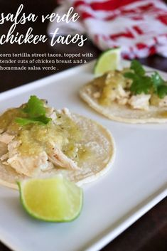 Salsa Verde Chicken Tacos - New Mexican Foodie