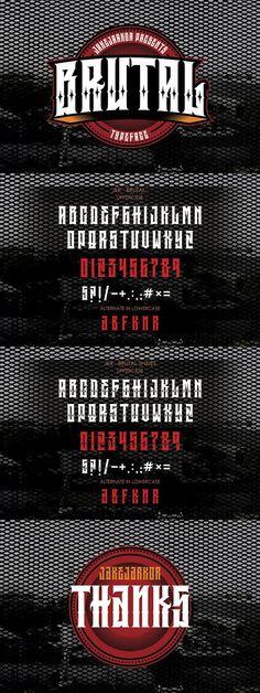 BRUTAL. Blackletter Fonts