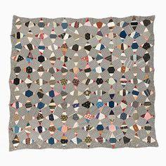 String Quilt Top – String Diamonds   Mingei