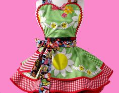 Dots Diner Country Kitsch Apron made with Vintage by dotsdiner, $58.00