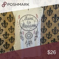 🍒 NWT Dream Catcher NWT  DREAM catcher tank, fits like a medium. Stretchy fabric cotton  Please ask any and all questions before purchasing this item. Tops Tank Tops