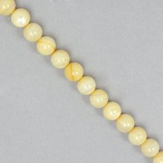 Lemon Shell Plain Rounds Approx 8mm | JewelleryMaker.com